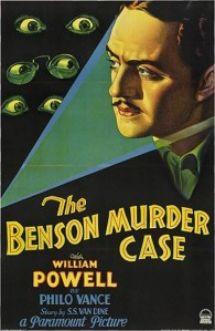 A poster for a 1930 Philo Vance film. The film version of The Canary Murder Case is available on YouTube.