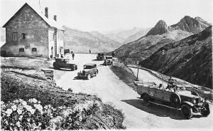 Col d'Allos - Le Col et le Chalet - Voitures - Autocar PLM - Route des Alpes et du Littoral - Nice
